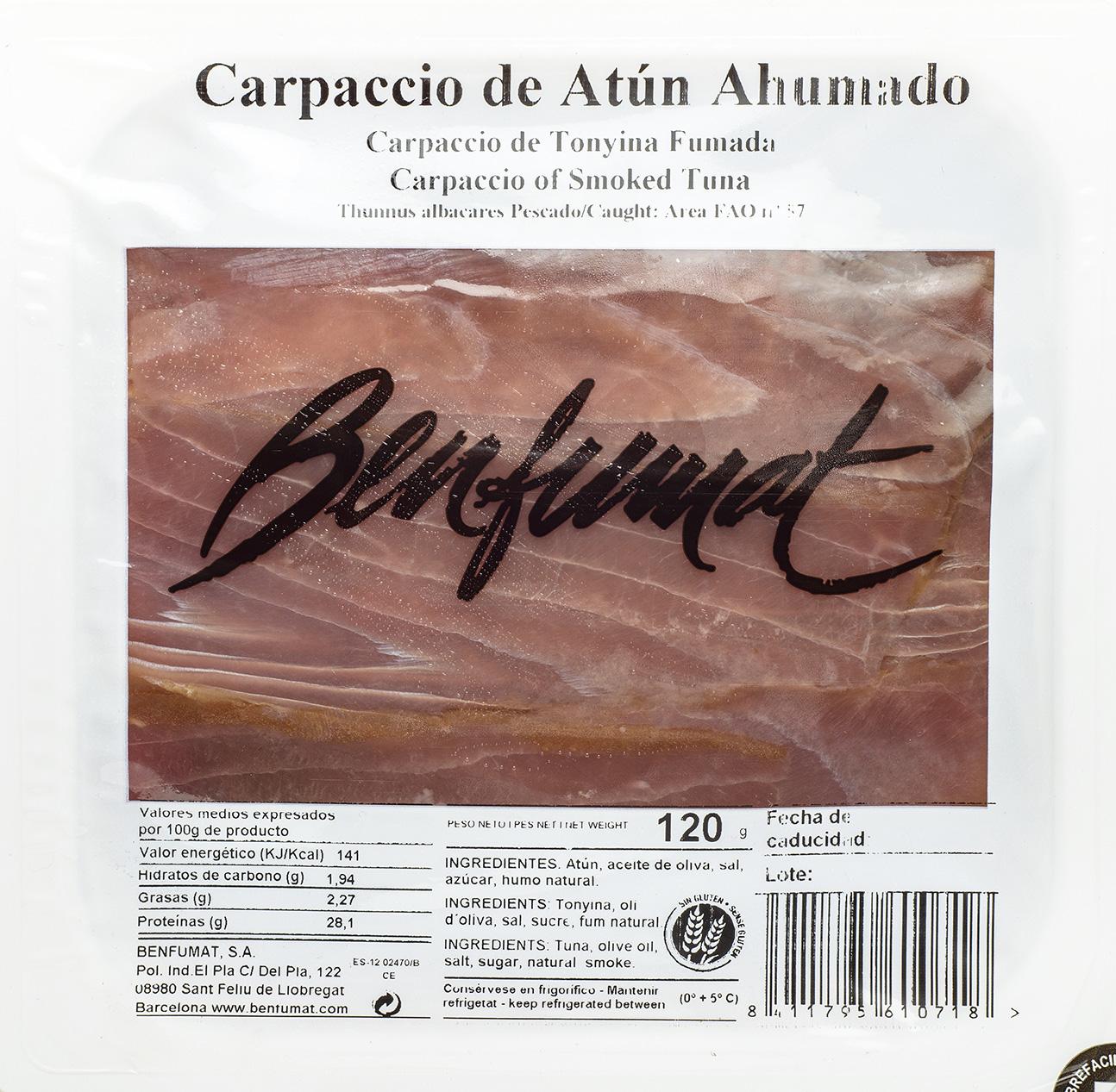 Atún Ah. Carpaccio en Aceite Oliva 120gr